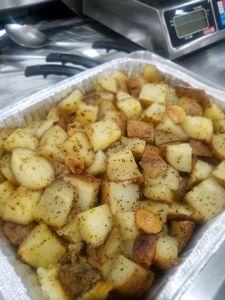 Franks Backyard BBQ Smokey Garlic Potatoes Cedar Lake Indiana
