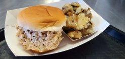 Franks Backyard BBQ Cedar Lake Indiana Smoked Chicken Salad w Smokey Potato