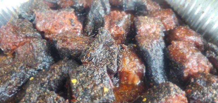 Franks Backyard BBQ Burnt Ends Cedar Lake Indiana